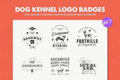 Dog Kennel Logo Badges Vol.3