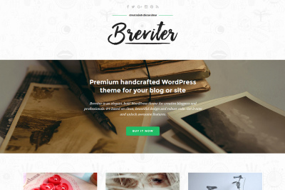 Breviter Pro - handcrafted WordPress theme