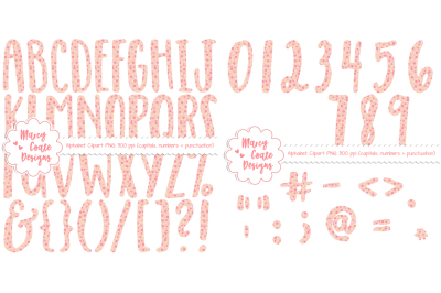Pink Floral Alphabet Clipart