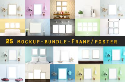 25 MockUps - Bundle - Frame - Poster