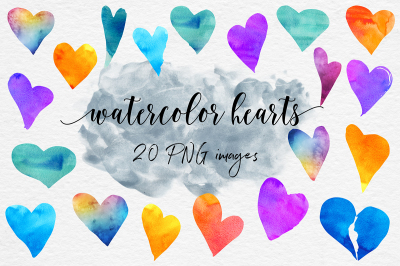 Valentine's Day - Watercolor Hearts