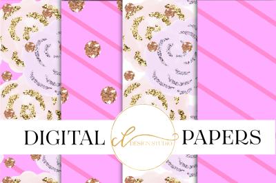 Pink Garden Digital Papers
