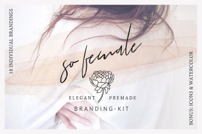 So Female Branding Kit +Watercolours