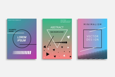 Abstract posters - fashion 80-90s
