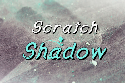 Scratch Shadow Typeface