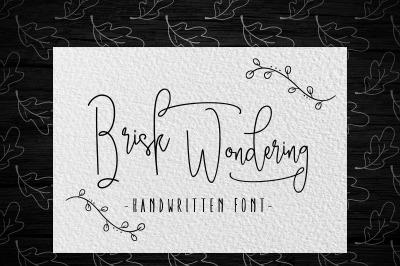 Brisk wondering