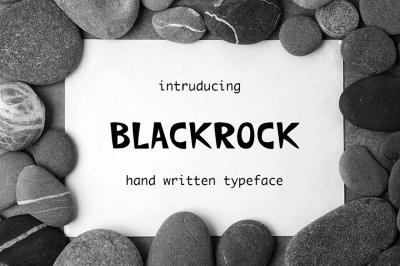 Backrock hand written font