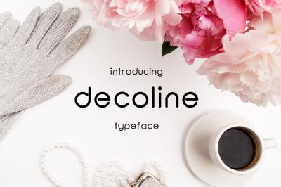 Decoline font