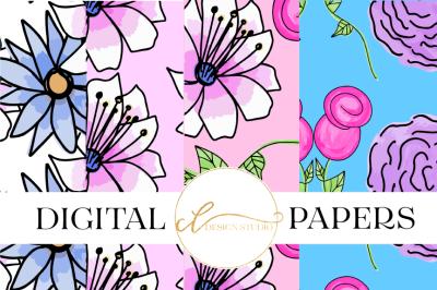 Floral Surprise Digital Papers