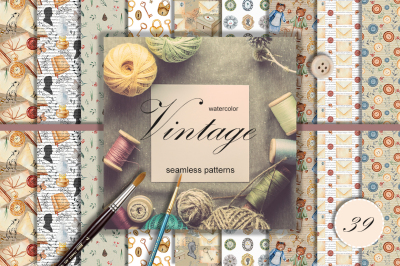 Vintage patterns collection