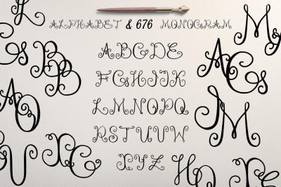 Alphabet & 676 Monogram