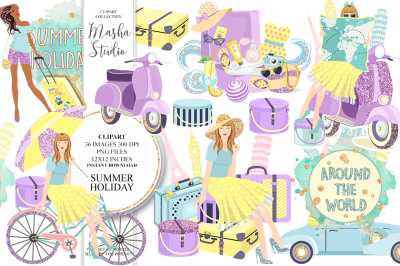 SUMMER HOLIDAY clipart