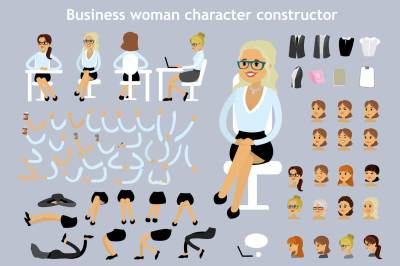 Business woman character constructor