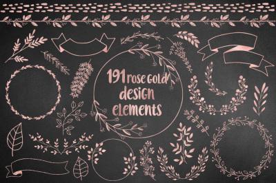 191 Rose Gold Design Elements