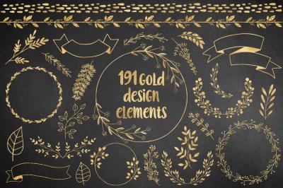 191 Gold Design Elements