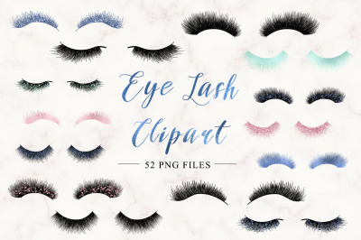 Digital eye lash clip art (set II)
