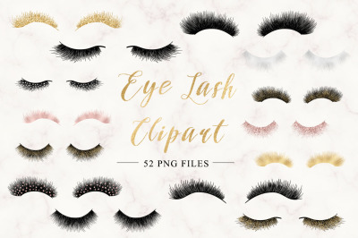 Digital eye lash clip art