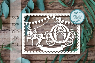 Bunting Princess Carriage Cutting File SVG DXF PNG PDF JPG