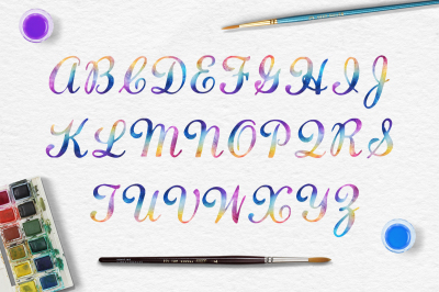 Uppercase Rainbow Letters