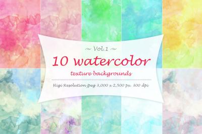 10 Watercolor texture Vol 1.