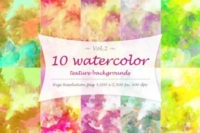 10 Watercolor texture Vol 2.