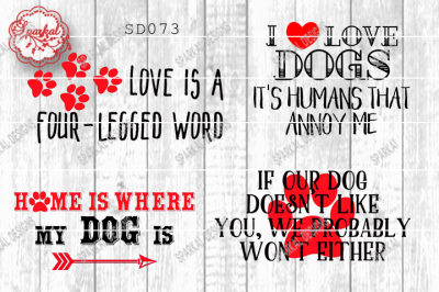 Dog Love Quotes, Cutting Files