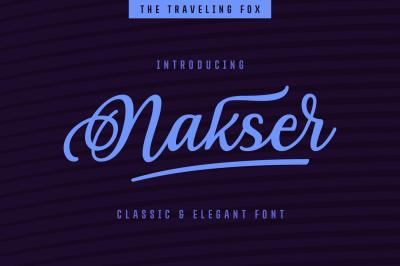Nakser - Handwritten Font