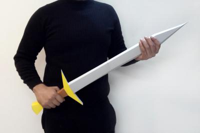 DIY Sword - 3d papercraft