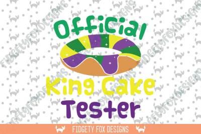 King Cake Tester SVG Mardi Gras svg dxf eps pdf png
