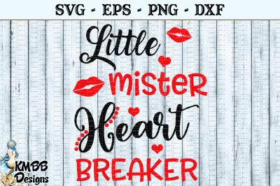 Little Mister Heart Breaker Valentine SVG EPS PNG DXF Cut file