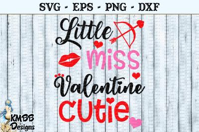 Little Miss Valentine Cutie SVG EPS PNG DXF Cut file