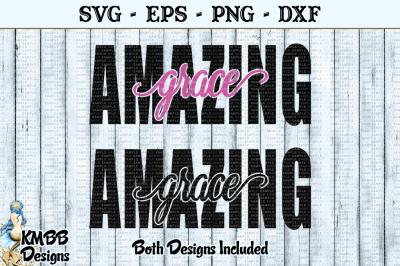 Amazing Grace cutout 1 and 2 colors SVG EPS PNG DXF Cut file