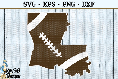 Louisiana Shape Football Sports SVG EPS PNG DXF Cut file