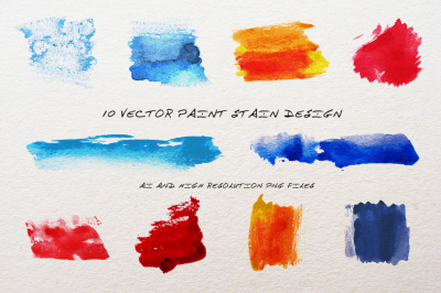 Water color paint - Vector (AI, PNG)