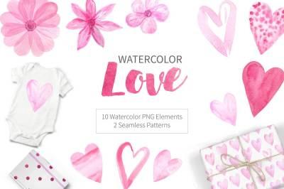 Watercolor Love Mini Set