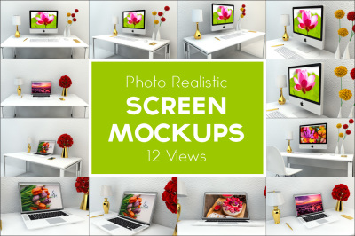 Screen Mockup - 12 Views