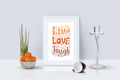 Live, love, laugh - Wall Art, Card, Poster