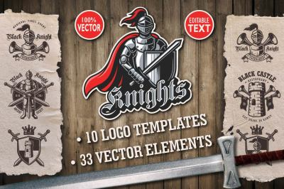 Knights logo templates. Discount inside