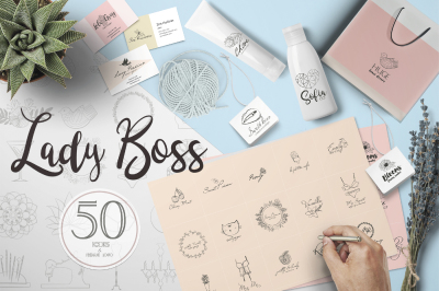 Lady Boss premade logo template