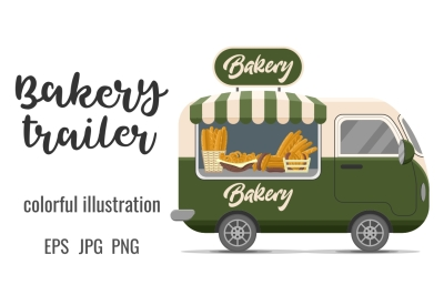 Bakery street food caravan trailer