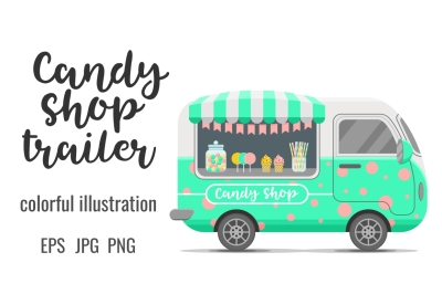 Candy shop street food caravan trailer