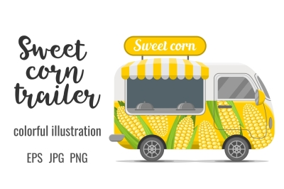 Sweet corn street food caravan trailer