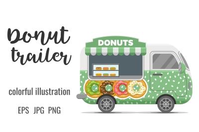 Donat street food caravan trailer