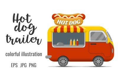 Hot dog street food caravan trailer