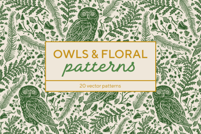 Owls & Floral patterns