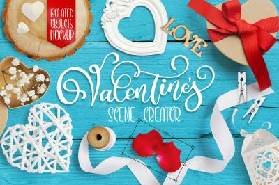 Valentine Mockup valentines scene creator