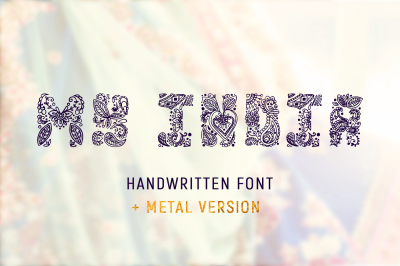 MY INDIA handwritten font