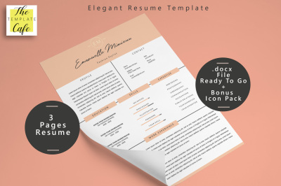 Elegant MS Word Resume Template (3 Pages)