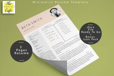 Minimalist MS Word Resume Template (3 Pages)