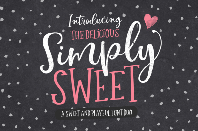 Simply Sweet Font Duo